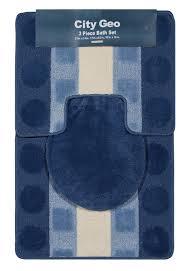 home dynamix city geo bath rug set 3 piece set bath mats rug sets bath décor accents free at powererusa com