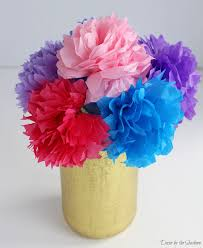 tissue paper flower centerpiece ideas diy tissue paper flowers tutorial decor by the seashore
