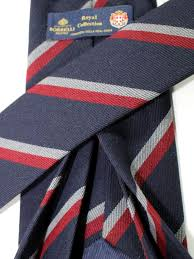 <b>Luigi Borrelli</b> 11 Fold Tie ROYAL COLLECTION Navy Maroon ...