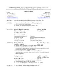 Nursing Student Resume 66 Images New Graduate Nurse Rn Sample Skills ...