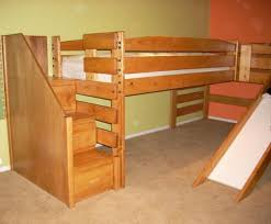 Alluring Bunk Bed With Stairs And Slide Fun Beds Slides Furniture