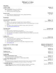 Free Resume Templates Examples Word Template Curriculum Vitae