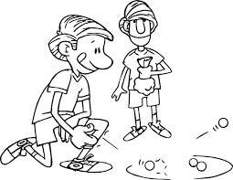 Small Picture Kicking Marble Playing With Friend Coloring Page Wecoloringpage