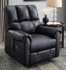 black leather massage chair. flash furniture massaging leather recliner and ottoman, black - walmart.com massage chair