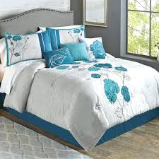 roses duvet covers gorgeous teal applique comforter set fl queen embroidered shams pillows new rose gold