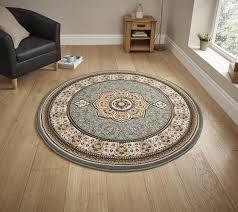 heritage 4400 round rug in blue
