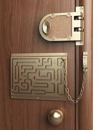 home security door locks. Beautiful Security Chain Locks Door Art Redesigns The Lock For Security Fetishists  Super Labyrinth Wire   To Home Security Door Locks