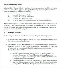 Change Order Form Construction Sample Creative Likeness Appraisal ...
