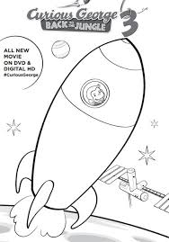 curious george 3 printable activities coloring pages curious george 3 printable activities coloring rocketship page