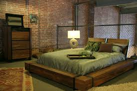 industrial bedroom furniture. Industrial Chic Wood Platform Bed Industrial-bedroom Bedroom Furniture E