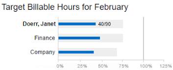 Billable Hours Timesheet What Does The Target Billable Hours Graph I See In My Timesheet Show