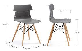Chaises Plastiques Design Simple Chaise Design En Plastique Noir