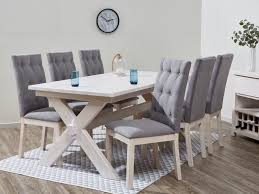white washed dining room furniture. Brilliant Washed White Wash Dining Table Distressed Set Finished Top Of Rectangle Wooden  With Six Gray Chairs Have Two Blue Glass For Covered Washed Tables Awesome Coloured  Room Furniture B