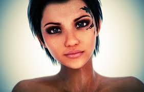 обои глаза взгляд девушка лицо рендеринг волосы тату картинки
