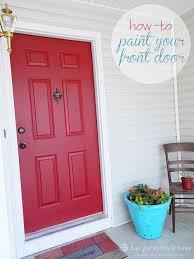 how to paint your front door