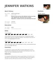 Ideas Collection Shift Supervisor Resume Samples Visualcv Resume