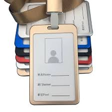 Badge Office Aluminium Metal Id Card Badge Holders