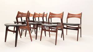 mid century model 310 teak dining chairs by erik buch set of 8 4