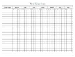 Attendance Record Sheet Trejos Co