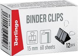 Berlingo <b>Зажим</b> для бумаг ширина 15 мм <b>12 шт</b>