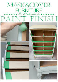 professional furniture paintingQuickTipTuesday  Mask For Clean  Professional Looking Painted