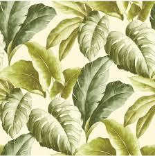 Bolcom Botanical Bladeren Groenwit Behang Vliesbehang Groen