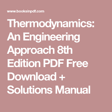 Thermodynamics: An Engineering Approach 8th Edition PDF Free ...