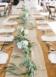 Rustic farm tablescape #burlap #tablerunner   Photo: www.weddings .brookeboling.