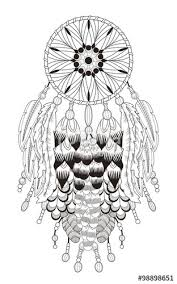 Small Picture dream catcher coloring page Stock image and royalty free vector