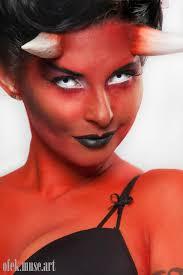 pinup she devil y demon makeup by ofek muse art