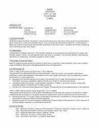 Electrical Engineer Resume Sample Electrical Maintenance Engineer Resume Samples Inspirational 60 57