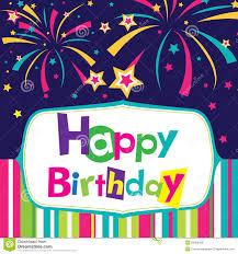 Vector Happy Birthday Card Stock Vector Illustration Of Design