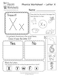 Beginning consonants, ending consonants, flash cards, games cards. Free Letter X Phonics Worksheet Learn Letter X Sounds