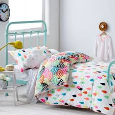 cloud rainbow and rain kids bedding set