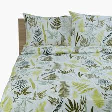 fern printed 3 piece super king quilt