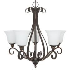 hampton bay 5 light chandelier fixture oil rubbed bronze 1001409292