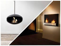 mounted bioethanol fireplaces