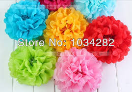 Decorative Tissue Paper Balls Custom Newest Craft Paper Ball For Decoration Tissue Paper Pom Poms Flower