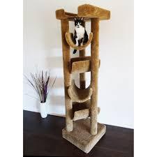 new cat condos  in premiere solid wood skyscraper cat tree