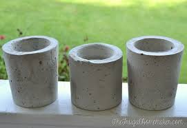 DIY Painted Concrete Planters (How to make your own concrete planters)