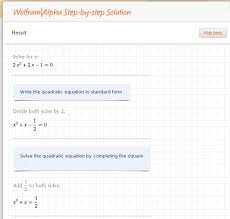 even without the step by step solution though any problem from simple equations to derivatives to integrals can be solved with wolfram alpha