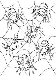 Small Picture Scary Halloween Skull And Spider Coloring Pages Halloween
