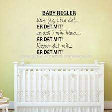 china baby rules vinyl wall decals danish sticker nursery letter wall art for home decoration customized
