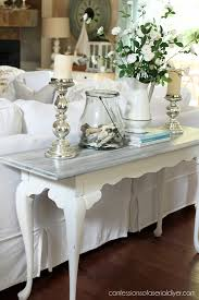 white washed sofa table confessions