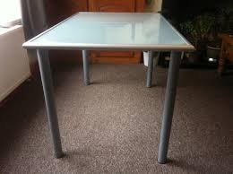 ikea glass table desk legs easy to attach remove in great condition