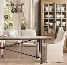 slipcovered camelback dining chair slipcovered camelback restoration hardware