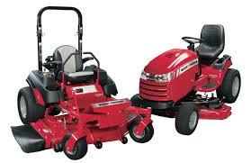 zero turn mowers and lawn tractors