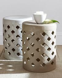 ceramic garden seat. lattice garden stool. also like the idea of using a ceramic stool in seat