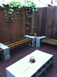 Seating Wall Blocks Furniture Rustic Outdoor Bench Material Ideas With Cinder Block