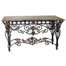 rod iron furniture. Wrought Iron Foyer Table Foter Rod Furniture S